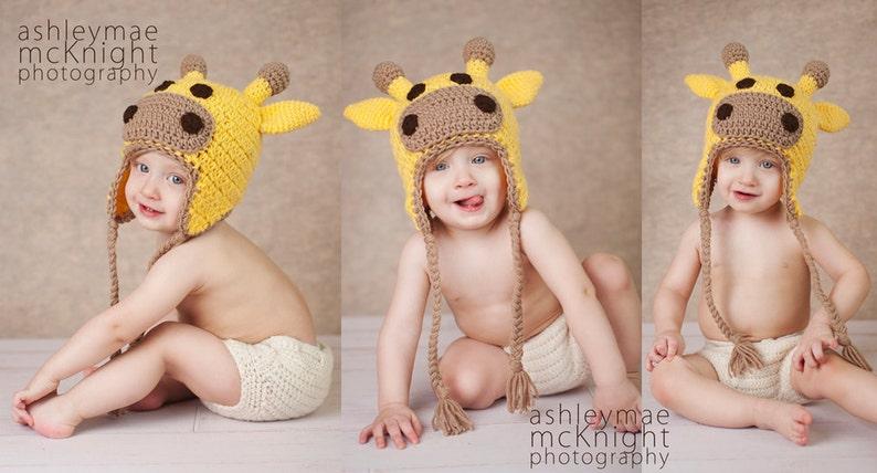 Instant Download Crochet Pattern  Giraffe Hat Crochet Pattern image 0