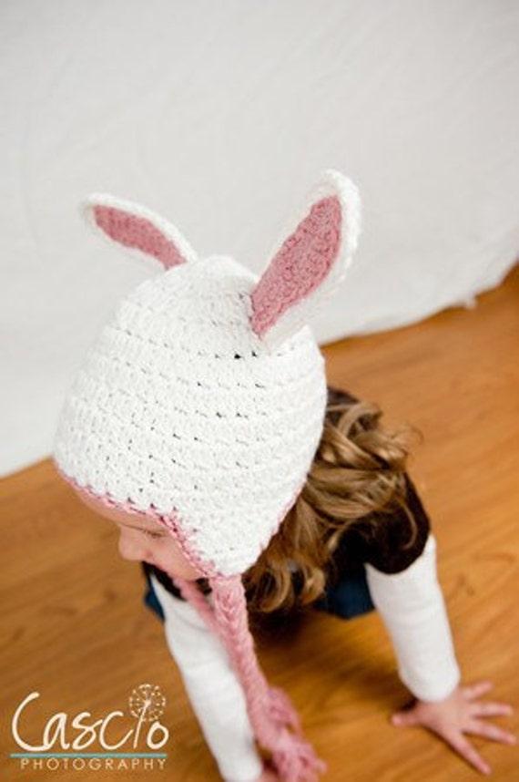 Ganchillo patrón patrón del sombrero de conejito | Etsy