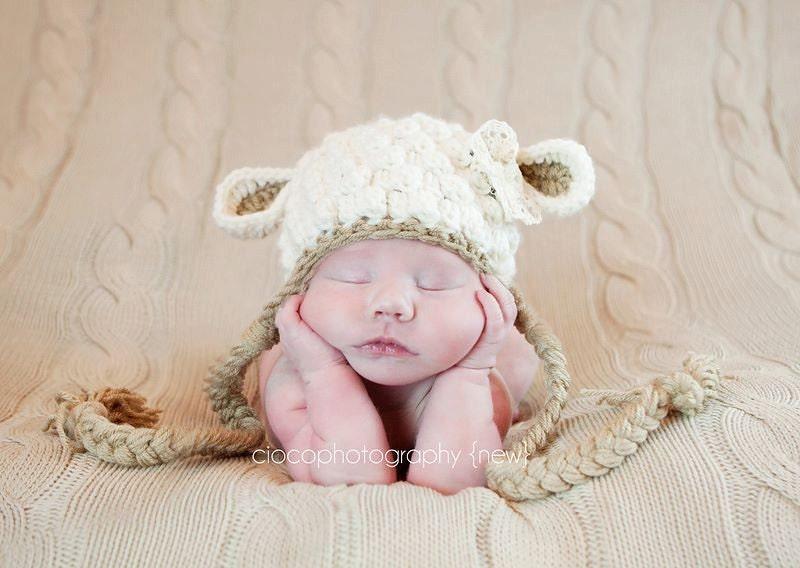 Crochet patrones sombrero cordero