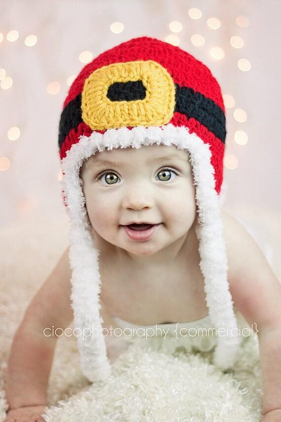 Crochet patrones sombrero de Santa Navidad descarga   Etsy