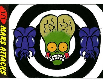 Mars Attacks! Sketch Card # 4