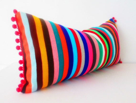 Tribal pillow cover 14x28 Inches serape