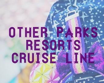 Ear Buddy / Keyfob / Wall Buddy Parks Resorts Cruise Line Mouse Ears Holder