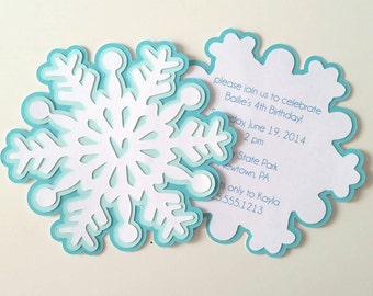 Snowflake Party Invitation - Pack of 10