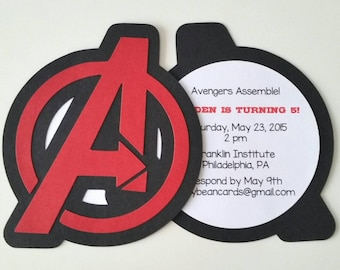 Avengers Party Invitation - Pack of 10