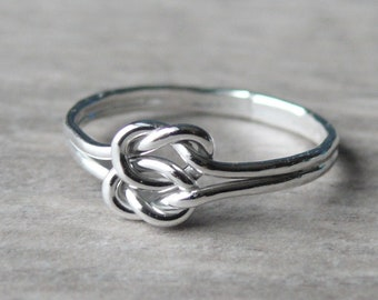 Double love knot ring • Infinity knot ring Sterling silver knot ring • Tie the knot ring • Celtic knot sterling silver ring