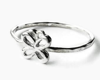 Butterfly ring • Sterling silver butterfly ring • 925 sterling silver stacking ring