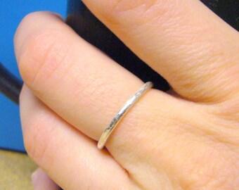 Handmade silver ring Sterling silver ring • Sterling silver stacking ring • Stackable ring