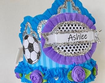Birthday Hat, Birthday Crown, adult birthday hat, kids birthday hat, soccer birthday hat,  customize it