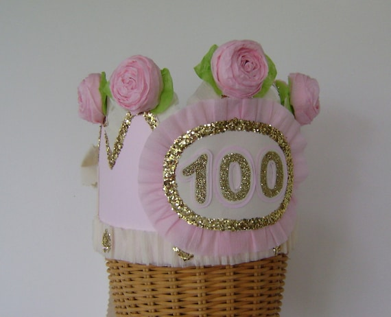 100th Birthday Party Crown Hat Adult
