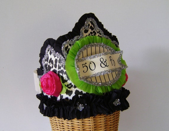 50th Birthday Party Crown Hat 50 And FAB Or Customize
