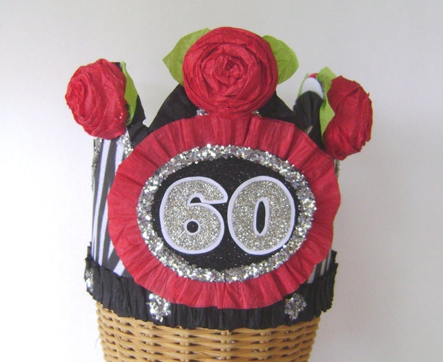 60th Birthday Pary Crown Party Hat Zebra Customize With Any Number