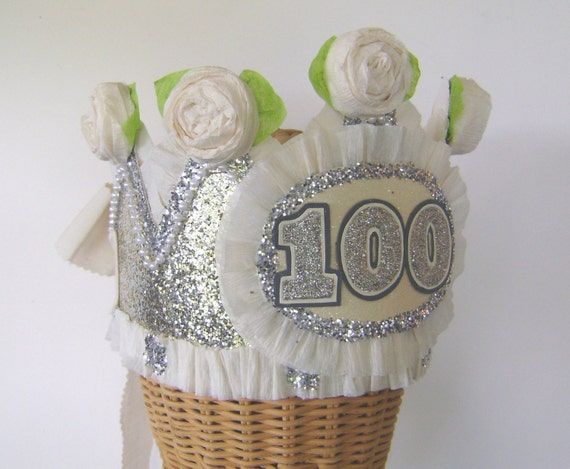 100th Birthday Party Crown Hat Adult Customize