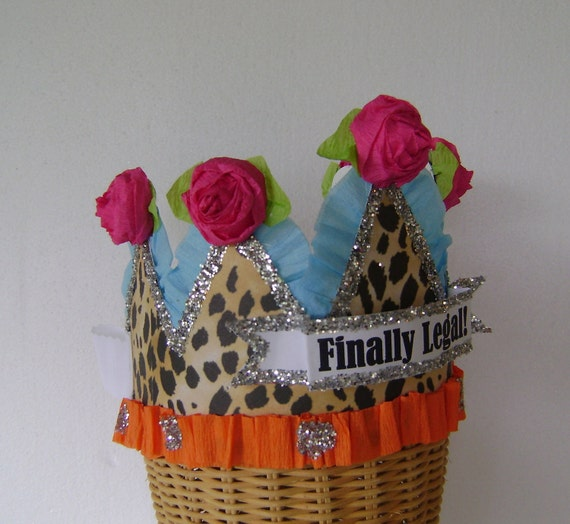 21st Birthday Crown Hat Customized