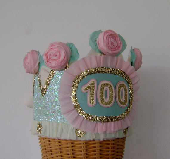 100th Birthday Party Crown Hat Adult Customize With Any Number