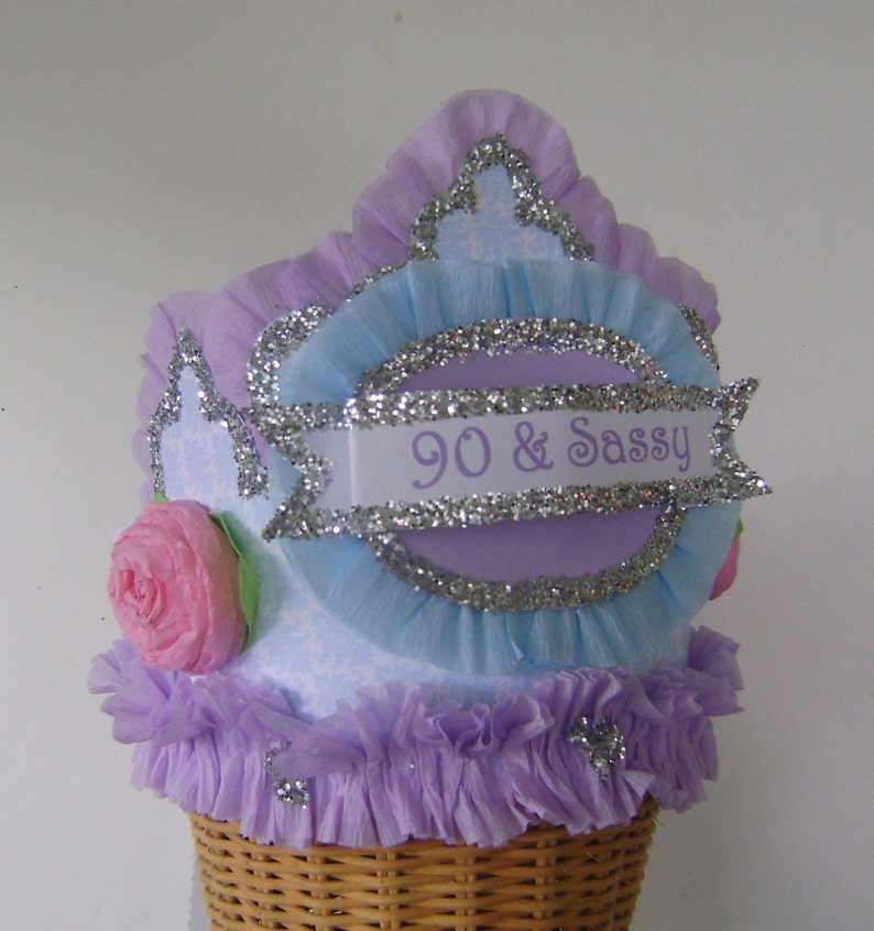 90th Birthday Party Hat Crown Adult
