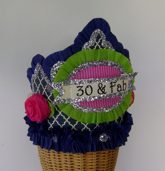 30th Birthday Party Crown Hat Customize