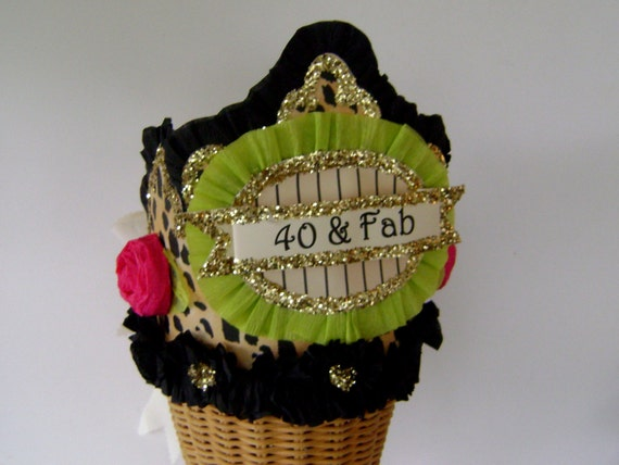 40th Birthday Party Crown Hat Adult Customize
