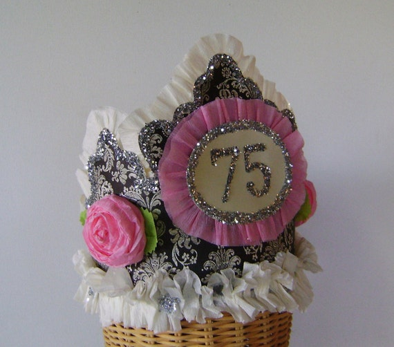 75th Birthday Party Crown Hat Customize With Any Number