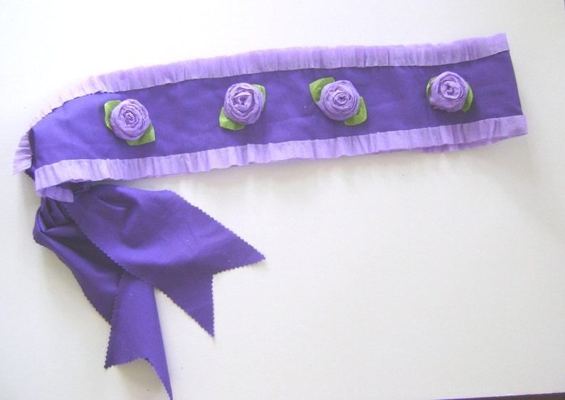 purple sash customize Party sash BIG SISTER Sash adjustable for adult or child