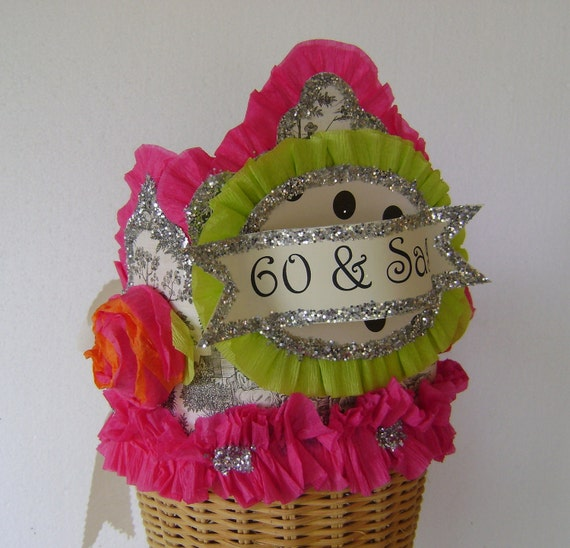 60th Birthday Party Hat Crown Adult