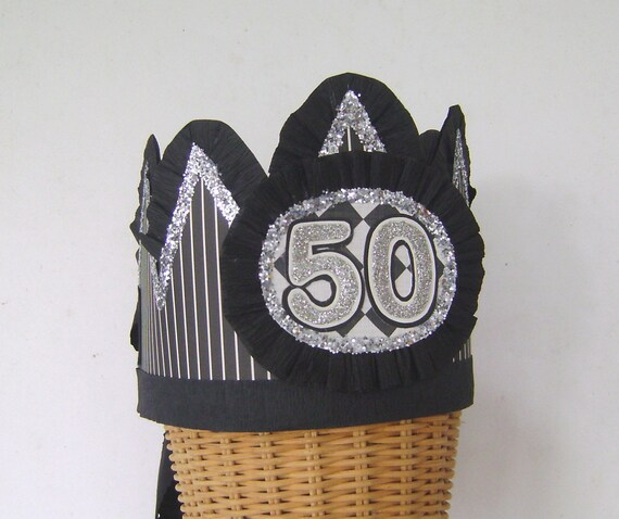 Mens 50th Birthday Party Crown Hat Male Boy Customize