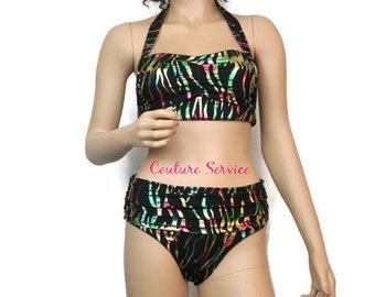 0a4f70591b Colorful Black Metallic Bikini Swimsuit