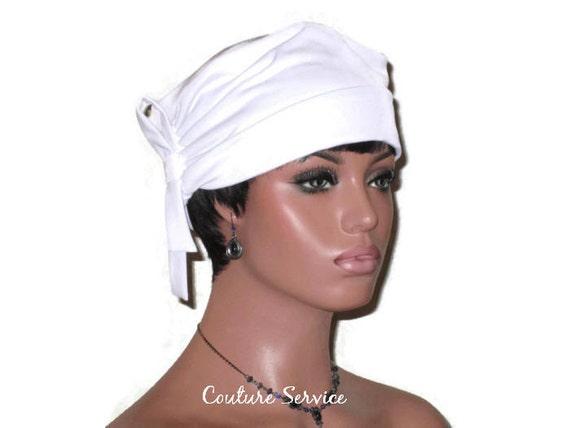 White Turban Hat, Women's White Turban, White Handmade Turban, White  Fashion Turban, Side Shirred Turban, White Looped Tie Turban