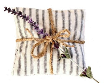 Lavender Sachets - Scented Drawer Sachets - Black Ticking - Black Toile - Housewarming Gift - For Mom - Mother-in-Law