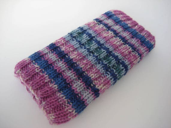 Mobile Phone Sock Hand Knitted Wool Iphone 5 Or Se Sock Cosy Etsy