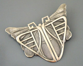 Vintage Jewelry - Vintage Brooch - Art Deco Brooch  - Butterfly Jewelry - Statement Jewelry - Vintage Brass Jewelry - handmade jewelry
