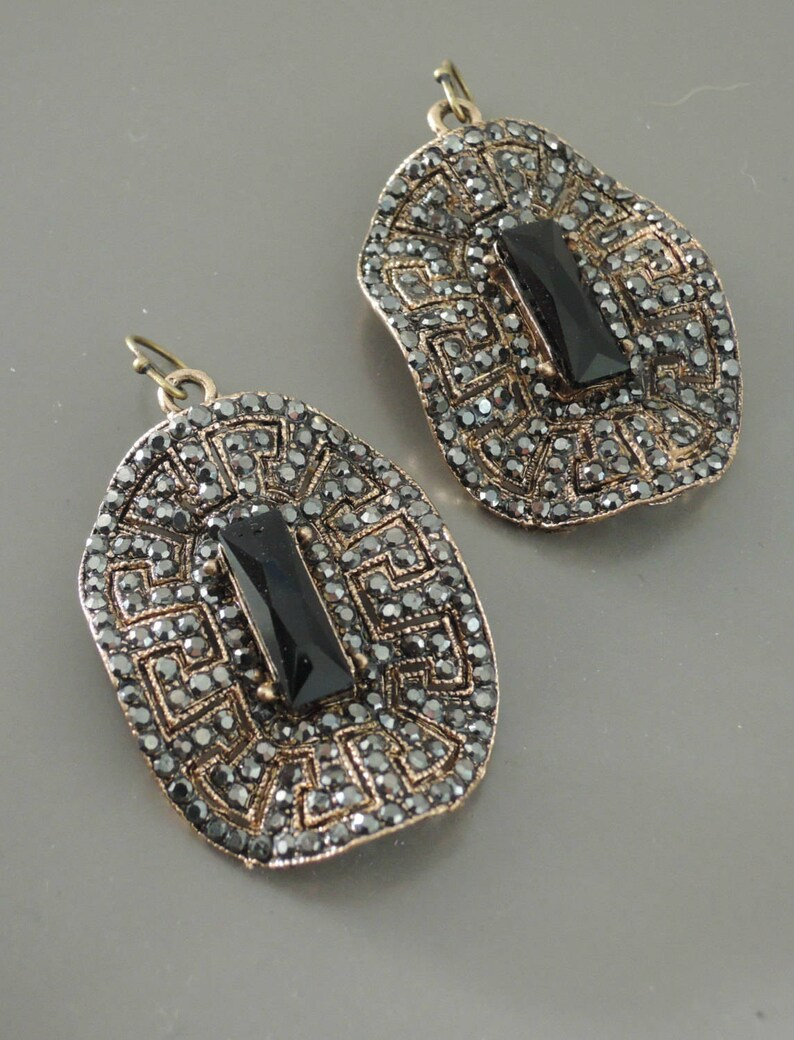 dc4e24f0e Art Deco Earrings Vintage Inspired Earrings Statement | Etsy