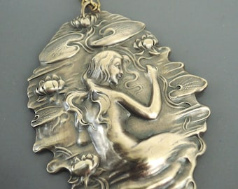 Vintage Jewelry - Mermaid Jewelry - Mermaid Necklace - Fantasy Jewelry - Brass jewelry - Vintage Necklace - Chloes - handmade jewelry