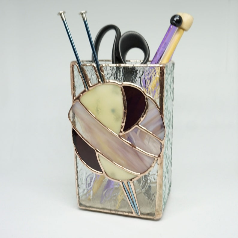 Knitting needle vase stained glass vase knitting needle image 0