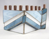 Glass Menorah, Hanukkah M...