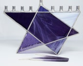 Stained Glass Chanukah Menorah, Purple Star of David, Purple Hanukkah Menorah, Star of David, Hanukiah, Wedding Gift, Judaica, lavender gift