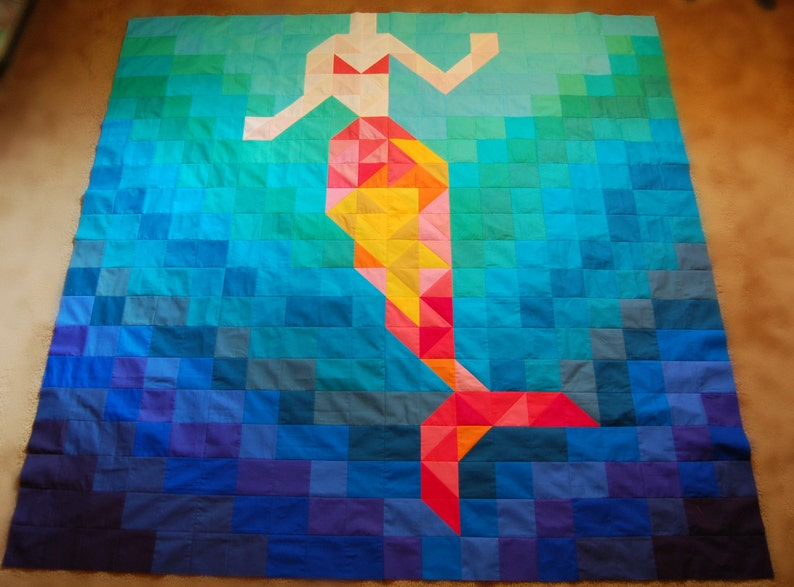 The Be a Mermaid Quilt Pattern image 0