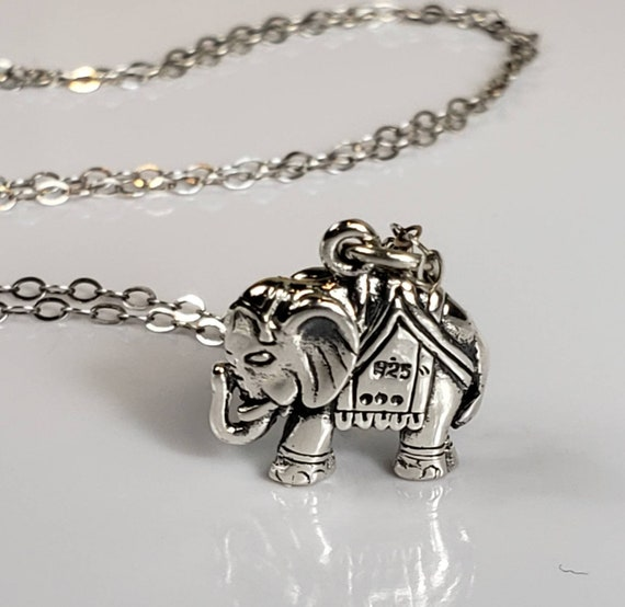 lucky necklace Spiritual gift Elephant charm Necklace Multi chain For animal lovers Minimalist good luck jewelry Gold Layered chains