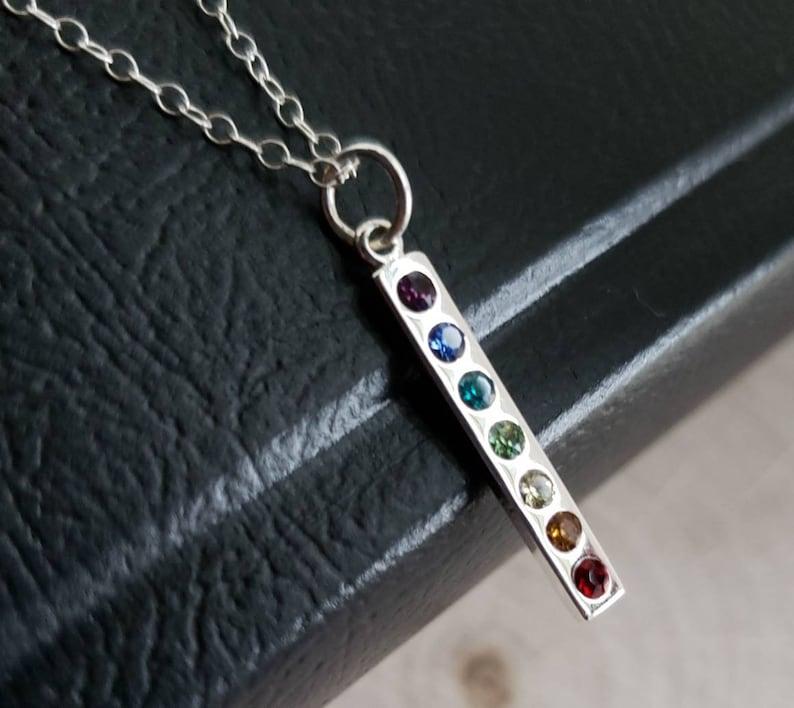 7 Crystal Bar Necklace