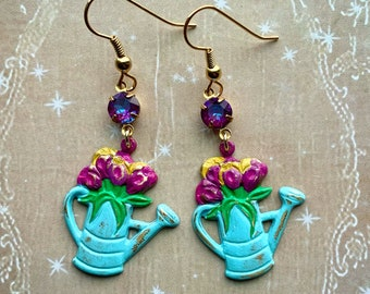 Funky Flower Earrings Bright Fresh From the Earring Garden Gift for Her Gorgeous Confident Colours Boho Beauties Red Yellow Sunflowers