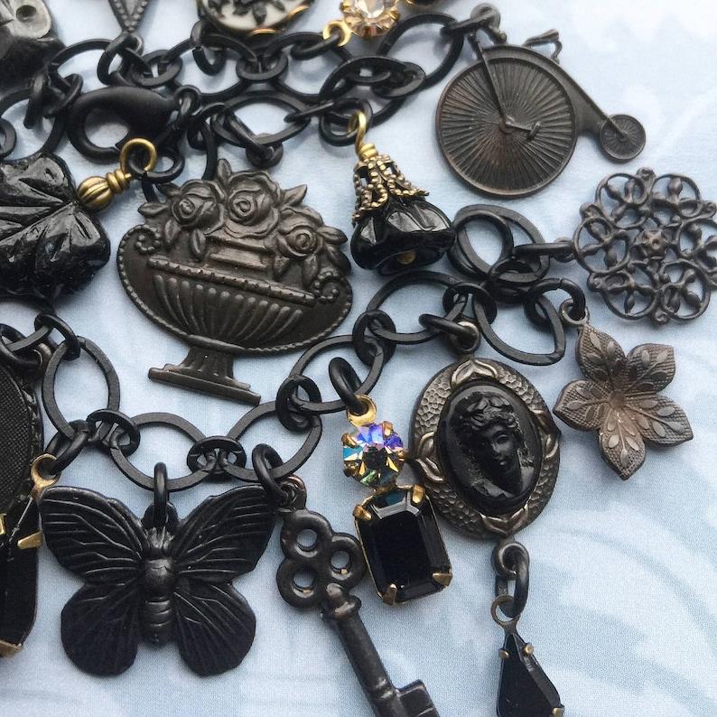 423a5ca77da19 Gothic Charm Bracelet - Gothic Bracelet - Gothic Jewelry - Neo Victorian -  Victorian Bracelet - Victorian Jewelry - Edwardian Jewelry