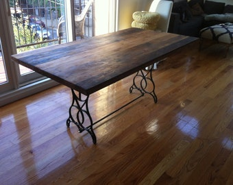 Reclaimed Wood Table Top Dining Table Kitchen Table Free Etsy - Salvaged wood table top