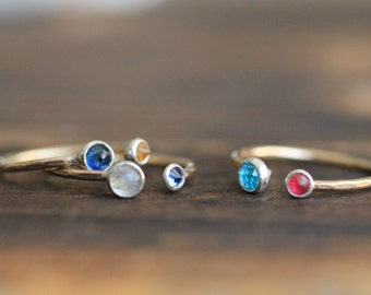 UPGRADE - 14k Gold-Filled Band - To be purchased with a PaleFish Two Gemstone Ring