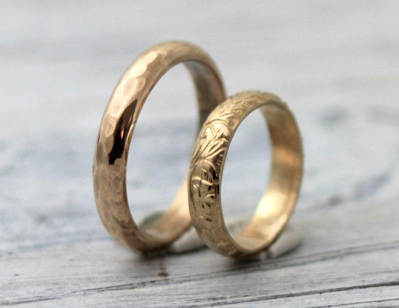 49de4827369 His and Hers Couples Rings-His and Hers wedding Rings-14K Gold