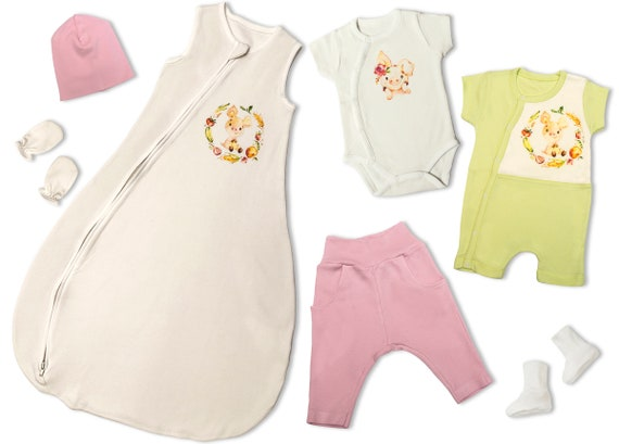 36c3e73ab92b Baby Girl Clothes Newborn Summer Clothes Set Baby Shower