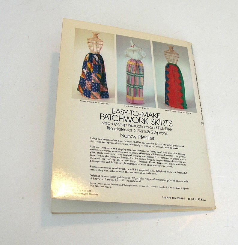Easy-To-Make Patchwork Skirts by Nancy Pfeiffer Pattern Book