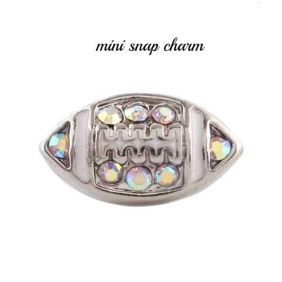 Silver Pink Rhinestone Christmas Hat 12mm Mini Snap Charm For Ginger Snaps
