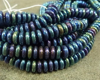 Jewelry Supplies 2Strands LT Shamrock Green AB Crystal Rondelle Beads