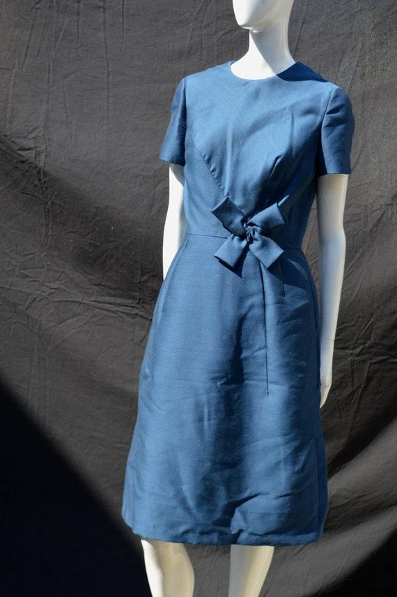 Vintage 50's debutant tailored I. MAGNIN & CO blue