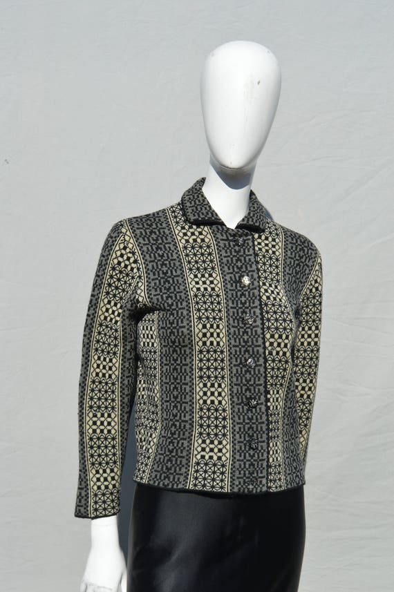 Vintage 60's CATALINA wool sweater nordic pattern